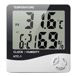 Dijital Termometre Sıcaklık Ve Nem Ölçer Masa Saati Alarm