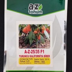 A-Z-25-35 F1 Turuncu Kalifornia Biber Tohumu