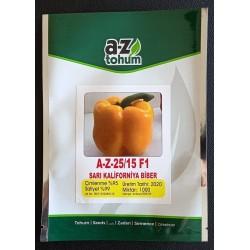 A-Z 2515 F1 Sarı Kalifornia Biber Tohumu