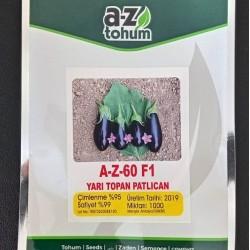 A-Z-60 F1 Yarı Topan Patlıcan Tohumu